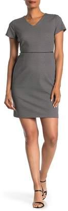 Amanda & Chelsea Geometric V-Neck Dress