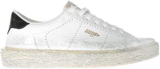 Golden Goose Glitter Brushed Superstar Sneakers