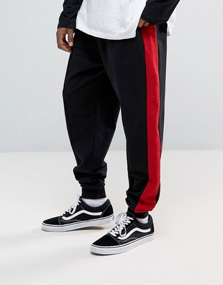 Granted Joggers In Black With Red Stripe $79 thestylecure.com