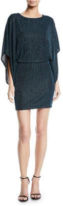 Jay Godfrey JAY X JAYGODFREY Metallic Rib-Knit Mini Dress