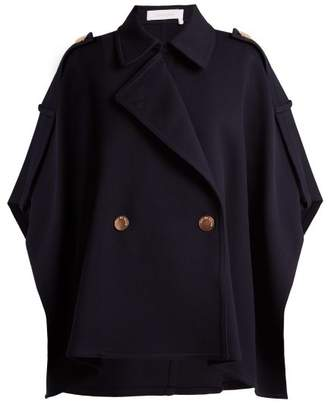 See by Chloe City Double Breasted Cape - Womens - Navy