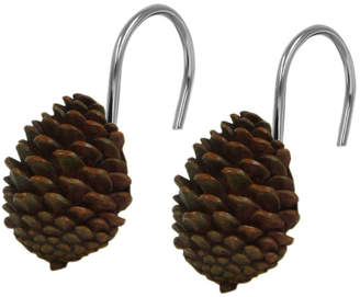 Bacova Guild Pinecone Silhouette Shower Curtain Hooks