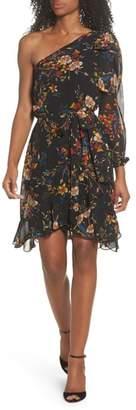 Sloane CLOVER AND Garden Vine One-Shoulder Dress