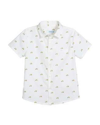 Mayoral Short-Sleeve Woven Scooter-Print Shirt, Size 12-36 Months