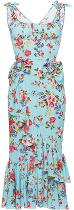 Dolce & Gabbana Stretch Floral Dress with Brooches $4,295 thestylecure.com