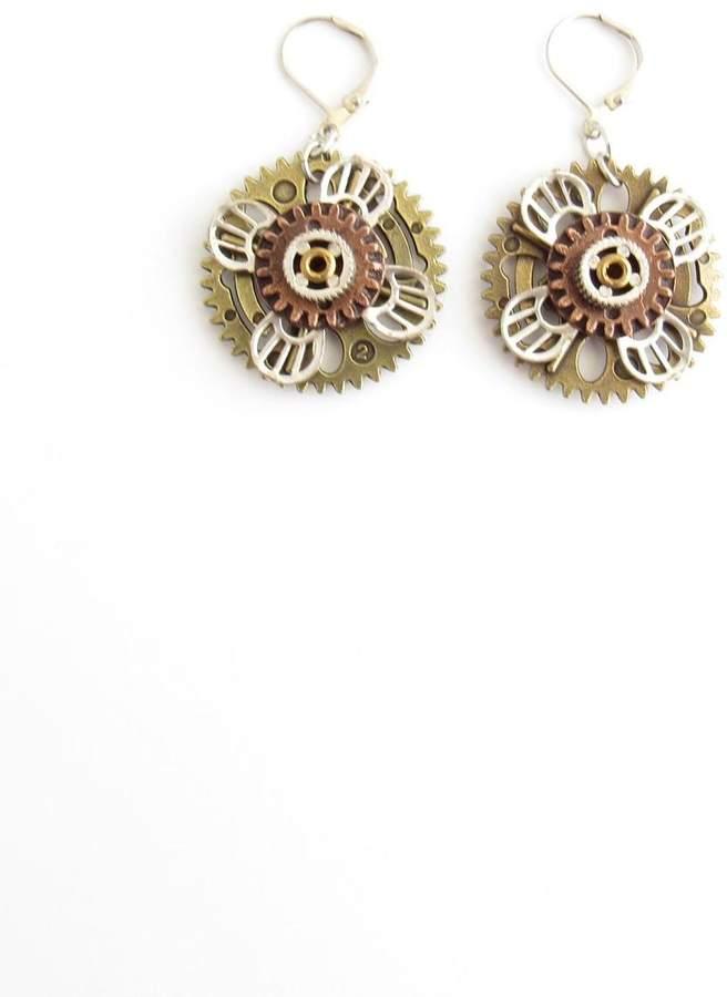 Alchemy Metal Flower Earrings