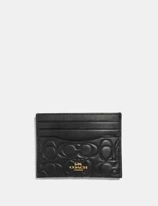 Coach Card Case In Signature Leather