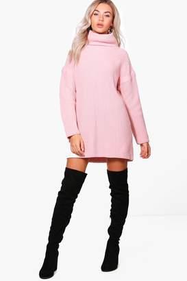 at boohoo boohoo Evie Roll Neck Jumper Dress