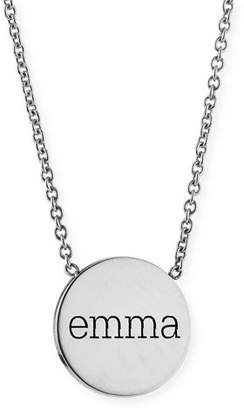 Chicco Zoe Personalized Disc Pendant Necklace