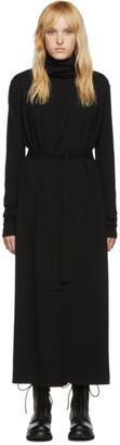 Rick Owens Black Bathrobe Dress