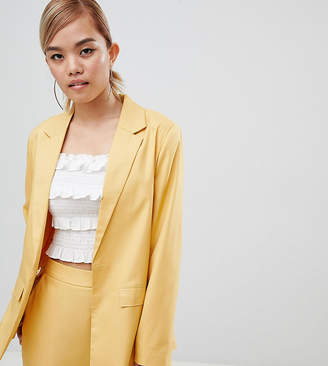 Fashion Union Petite Tie Waist Blazer Co-Ord