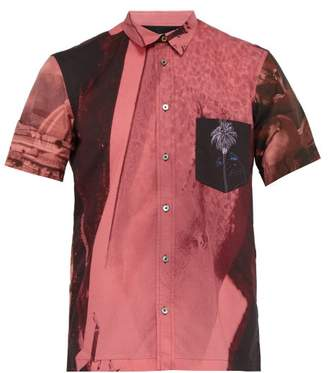 Paul Smith Photo Print Short Sleeve Cotton Shirt - Mens - Pink