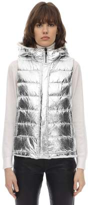 Yves Salomon REVERSIBLE METALLIC & FUR VEST