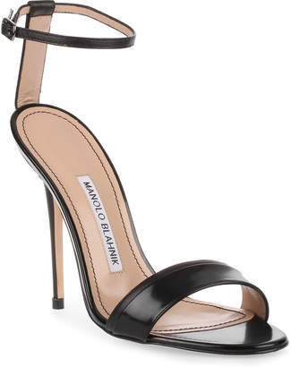 Manolo Blahnik Spezia 115 black leather sandal