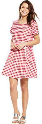 Glamorous Gingham Short Sleeved Swing Dress