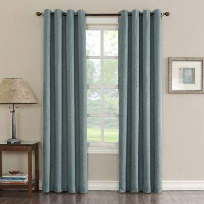 Sun Zero Hoffman 63-inch Grommet Room Darkening Window Curtain Panel in Mineral
