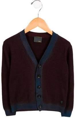 Fendi Boys' Virgin Wool Colorblock Cardigan