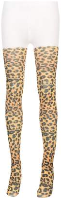 Richard Quinn leopard print tights