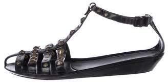 Jimmy Choo Rubber Embellished Sandals