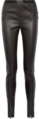 Tom Ford Leather Skinny Pants - Black