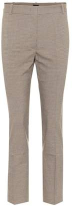 Joseph Checked cotton-blend pants