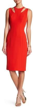 Couture Posh Shoulder Cutout Dress