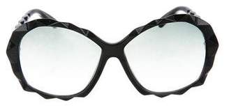 Swarovski Oversize Tinted Sunglasses