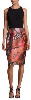 Carmen Marc Valvo Floral-Print Sheath Dress $680 thestylecure.com