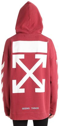 Arrows Printed Hooded Cotton Sweatshirt $520 thestylecure.com