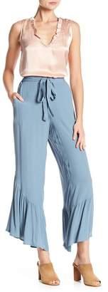 June & Hudson Ruffle Hem Woven Pants