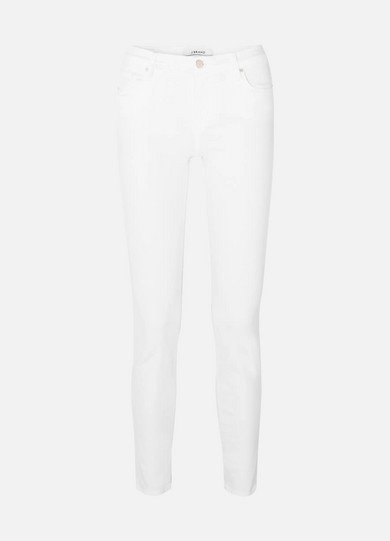 J Brand - 811 Mid-rise Skinny Jeans - White
