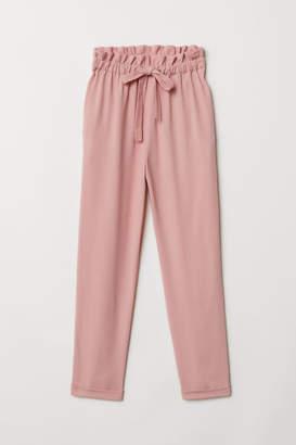 H&M Paper-bag Pants - Pink