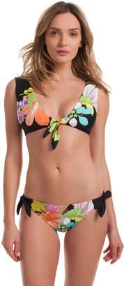 Trina Turk Bouquet Floral Cap Sleeve Top