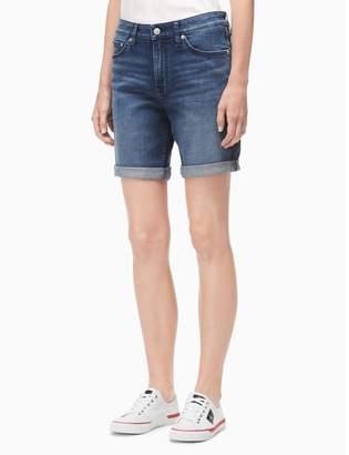 Calvin Klein mid blue denim city shorts