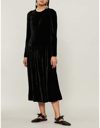 Stella McCartney Cutout velvet maxi dress