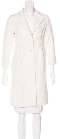 Valentino Valentino Textured Knee-Length Coat