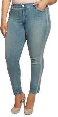 Dex Metallic Striped Skinny Jeans