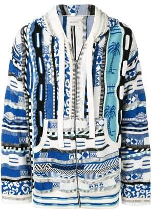 Laneus jacquard hoodie
