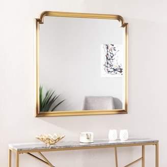 Southern Enterprises Loaka Art Deco Decorative Wall Mirror, Transitional, Gold