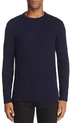 Armani Collezioni Solid Textured Sweater