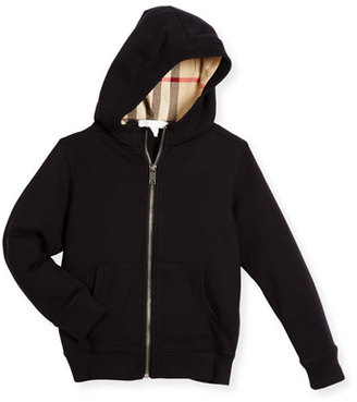 Burberry Pearcy Hooded Jersey Sweatshirt, Black, Size 4-14 $150 thestylecure.com