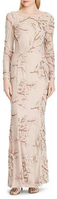 Ralph Lauren Embellished Tulle Gown