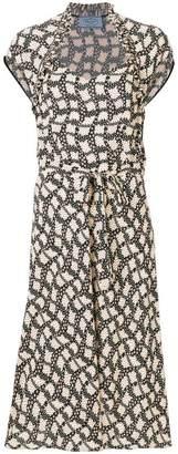 Prada printed midi dress