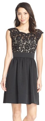 Women's Eliza J Lace & Faille Dress $148 thestylecure.com