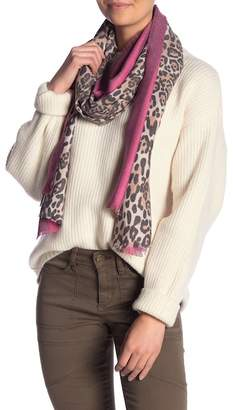 Collection XIIX Animal Stripe Wrap Scarf