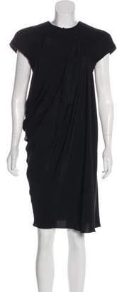Bottega Veneta Midi Scoop Neck Dress