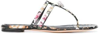 Alexander McQueen king skull thong sandals