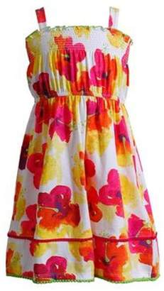 Youngland Floral Smocked Sundress 21522009 Floral