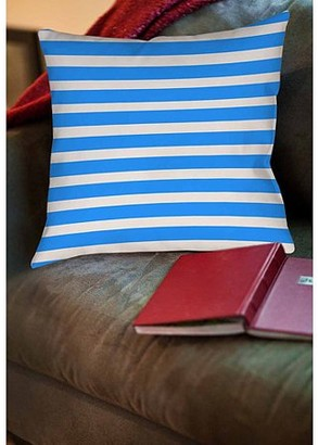 Thumbprintz Bright Stripes Robin Egg Indoor Pillow
