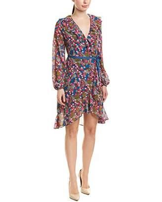 Betsey Johnson Women's Long Sleeve Chiffon Wrap Dress